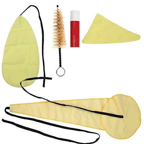Saxophon-Reinigungsset, Sax-Reinigungs-Pflegeset Dreidimensionales Tuch, Pass-Tuch, Trilaterales Tuch, Korkpaste und Mundstückbürste für Sanophon Musikinstrument Wartungswerkzeug