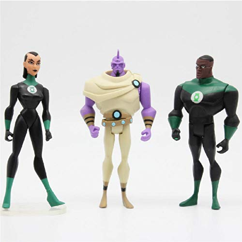 Modelo De Anime3 Unids/Lote Liga De Justicia Ilimitada DC Universe Lotes De Linterna Verde Katma Tui Despero Superhéroe Figura De Acción Juguetes Modelo 3.75 Pulgadas