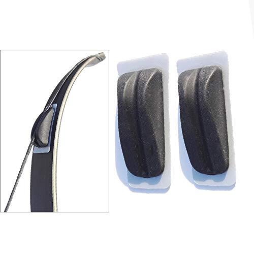 AMEYXGS 2 Piezas Estabilizadores de Arco Almohadillas de Silenciadores de Cuerda de Arco Amortiguadores de Arco para Arcos Recurvos