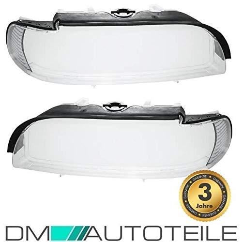 DM Autoteile FACELIFT Scheinwerferglas Scheinwerfer Gehäuse Streuscheibe Weiß für E39 00>