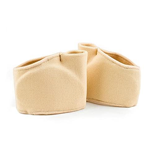 Anjing 1 paire de séparateurs d'orteils en silicone jaune - Correcteur d'oignon - Maintien de jour et de nuit - Taille L