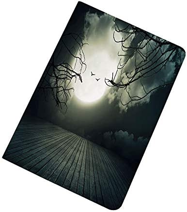 Halloween iPad Air 2 iPad Air Case Wooden Planks Floor with Leafless Branches and Blurred Full product image