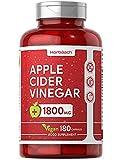 Apple Cider Vinegar 1800mg | 180 Vegan Capsules | High Strength 60 Days Supply | Keto Diet Friendly, Gluten Free Supplement
