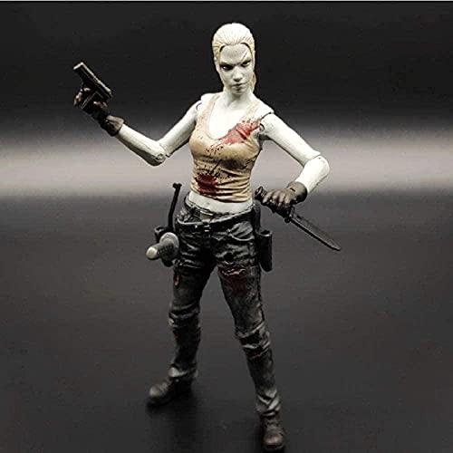 Modelo de Anime Barato Statuemovie Us Drama The Walking Dead Andrea PVC Modelo de Juguete colección de Figuras de acción Regalo 15Cm