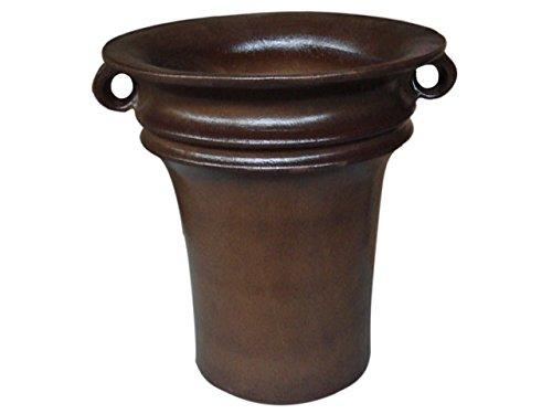 K & K plantenbak Aldebaran 60x60cm donkerbruin mat van vorstbestendig aardewerk keramiek (5 jaar garantie)