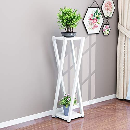 Support de fleur en métal Support à fleurs 2 couches Art en fer Palier intérieur Étagère à fleurs gain de place (Couleur : B3)