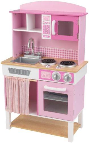 KidKraft 53198 Cocina de juguete Home Cookin' de madera para niños - Rosa