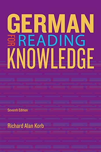 Compare Textbook Prices for German for Reading Knowledge World Languages 7 Edition ISBN 9781133604266 by Korb, Richard Alan