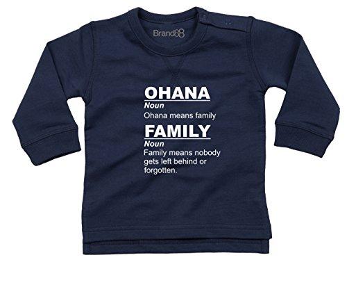 Brand88 Ohana Means Family Camiseta De Bebé - Azul Marino Náutico/Blanco 18-24 Meses