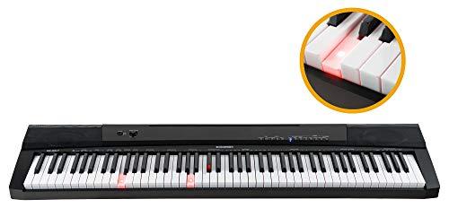 McGrey BS-88LT Leuchttasten-Keyboard - Einsteiger-Keyboard in Stagepiano-Optik mit 88 Leucht-Tasten - 146 Klänge - Split-, Dual- und Twinova-Funktion - inklusive Sustain-Pedal - schwarz