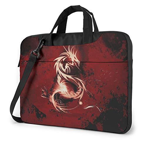 Blood Red Dragon Unisex Laptop Shoulder Bag Messenger Case for Computer Briefcase Carrying Sleeve