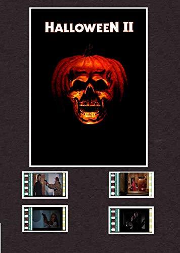 Halloween 2 (1981) Film Cell Style Display 20,3 x 15,2 cm 4 Zellen montiert, gerahmt, 25 x 20 cm