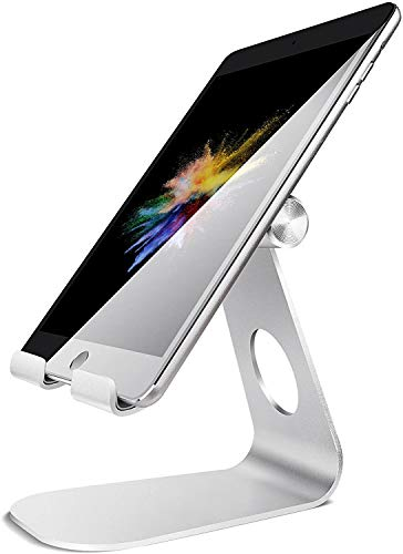 Tablet Stand Adjustable, Lamicall Tablet Holder : Desktop Holder Dock Cradle Compatible with iPad Pro 12.9,10.5, 9.7, Air Mini 2 3 4, Nexus, Accessories, Tab (4-13 inch) - Silver