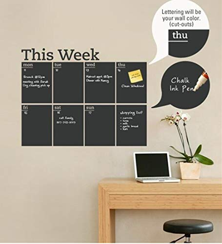 DIY - Adhesivo pared extraíble calendario semanal
