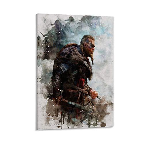 SLIQ Assassin's Creed Valhalla Pc Repack - Poster decorativo da parete per soggiorno, camera da letto, 60 x 90 cm