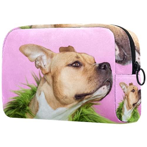 Neceser de Maquillaje para Mujer Bolso Organizador de Kit de Viaje cosmético,Perro...