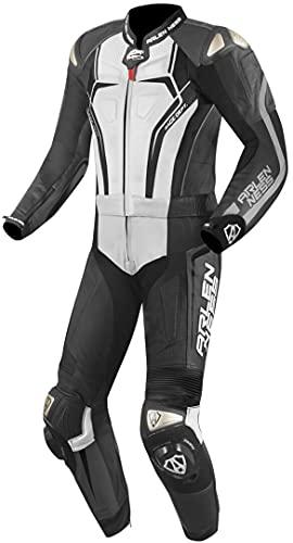 Arlen Ness Race-X 2-Teiler Motorrad Lederkombi Schwarz/Weiß/Grau 60