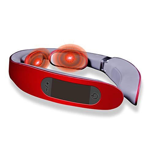 Zusammenklappbare Halswirbelsäule zur Massage - 45 Grad Thermostat der Halswirbelsäule zur Tiefenmassage Spa zur Beruhigung der Halswirbelsäule Intelligent Voice Broadcast Physiotherapie für den Hals