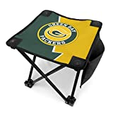 Green Soccer Bay Trump Packers Adults Kids Camping Lightweight Chair Portable Stool Ultralight Compact Waterproof Folding Backpack Chair Carry Bag For The Outdoors Activities Camping Fishing Hiking