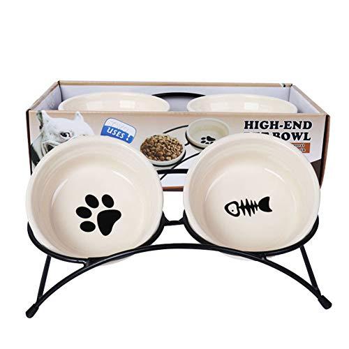 SXJ Alimentador Personalizado para Mascotas, Cuencos Elevados De Agua