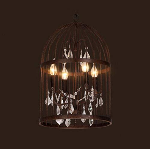 YUEXIN LED E14*4 Lámpara Cristal Industrial Vintage lámpara Industrial Colgante de luz,Creativo Hierro Lámpara Colgante para Sala de Estar,Luces Accesorio Restaurante Bar Cafetería