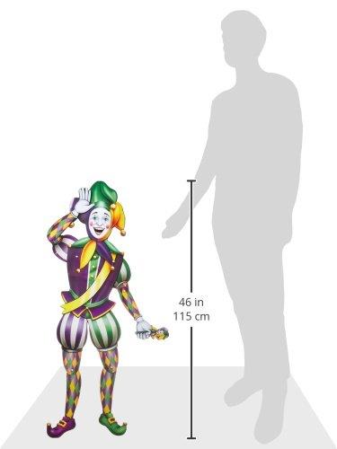 Beistle Jointed Mardi Gras Jester, 3-Feet 2-Inch