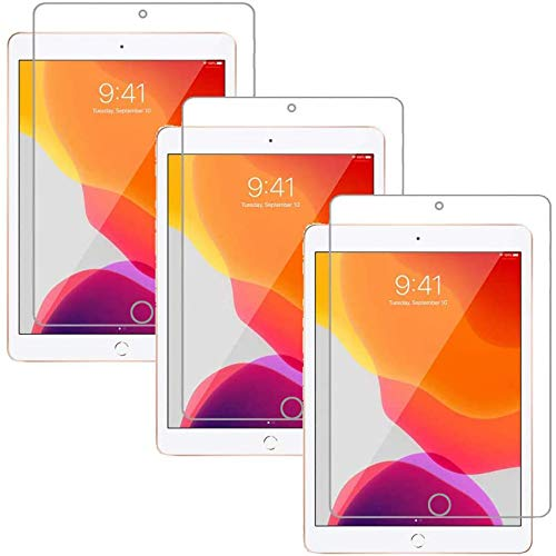 """[3 pack] Soineed For Apple iPad 10.2"""" (New iPad 8 8th Gen 2020 And iPad 7 7th 2019) 10.2 inch Screen Protector Tempered Glass 2.5D Edge,9H Hardness,Bubble Free"""