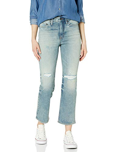 Amazon Brand - Goodthreads Women's Vintage Jean, Worn Repair Wash 30