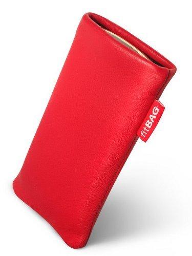 fitBAG Beat Rot Handytasche Tasche aus Echtleder Nappa mit Microfaserinnenfutter für Sony Ericsson K770 K770i