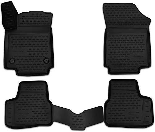 Element EXP.NLC.3D.51.43.210k Passgenaue Premium Antirutsch Gummimatten Fußmatten für VW Up, Skoda Citigo, Seat MII - Jahr: 11-20, Schwarz, Passform
