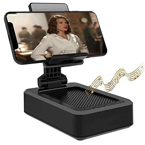 Abc Market Stand Soporte para Dispositivos Smartphone o Tablet con Bocina Altavoz Bluetooh Integrada Sonido Envolvente de Metal Ángulo...