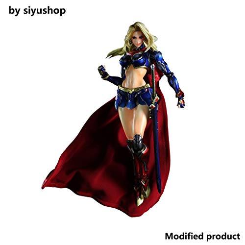 Siyushop Verschiedene SPIELKÜNSTE Kai Supergirl (PVC-bemalte Actionfigur) - Helden-Actionfigur - Ausgestattet Mit Einem Schwert Und Einer Austauschbaren Hand - Höhe 25,5 cm