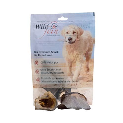 Wild & Fein Hundesnack Wildschweinohren ohne Fell