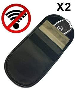 Pack Car Keyless Entry Fob Guard Signal Blocker Faraday Bag Block Car Theft Prevention