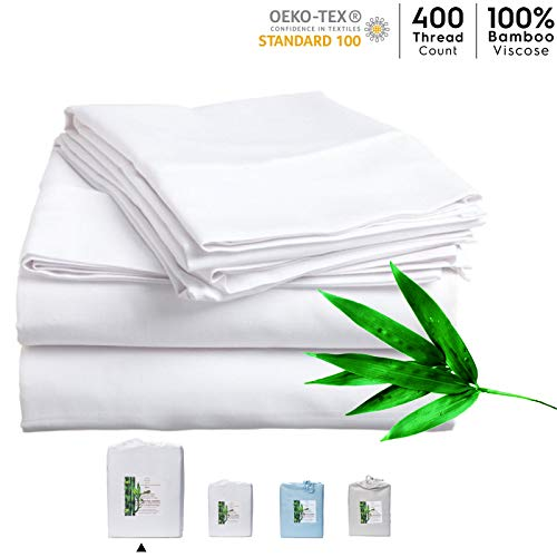 NatureIn Bamboo Sheets King Size – 100% Bio-Bambus-Bettwäsche 4-teiliges Set –...