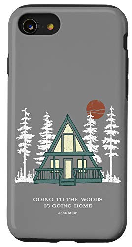 iPhone SE (2020) / 7 / 8 A Frame Cabin Going to Woods Going Home Rustic Case
