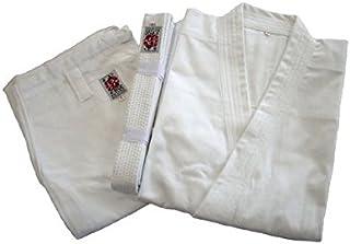 綿100%空手道衣セット【白】(上衣+ズボン+白帯) サイズ3~6
