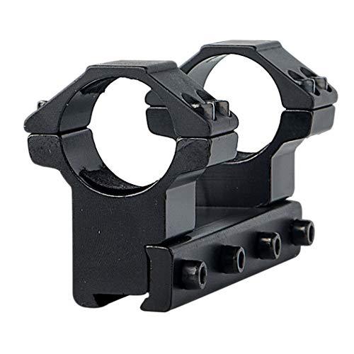 FOCUHUNTER Alluminio Tattico Alto Profilo 25.4mm Scope Rings 11mm Weaver/Picatinny Mount Rings per rotaia a Coda di Rondine Portata del Fucile