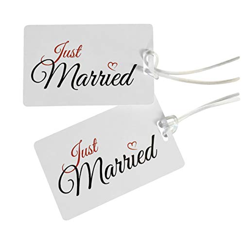 Etiqueta JUST MARRIED - Etiqueta Luna de Miel- Honeymoon Etiqueta para Equipaje-...