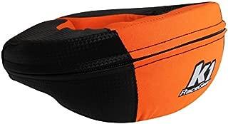 K1 Race Gear Neck Protector Brace (Carbon/Orange, Adult)