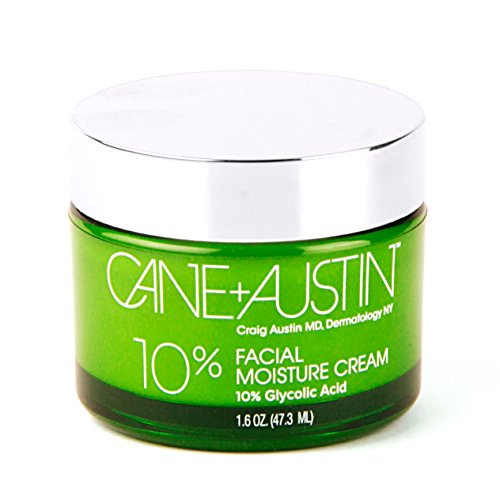 CANE + AUSTIN Facial Moisture Cream with Glycolic Acid, Anti Aging Face Moisturizer for All Skin Types, Balances Skin While Improving Texture, Non-Comedogenic, 1.6 fluid ounce…