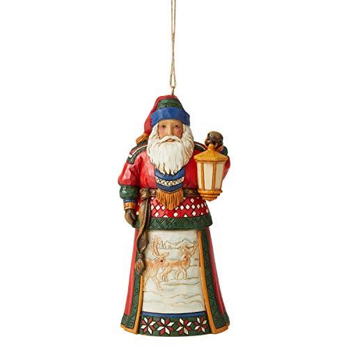 Enesco Jim Shore Heartwood Creek JS Lapland Santa with Lantern HO Figurine