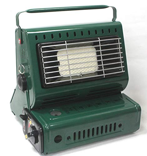 9TRADING 2 in1 Butane LP Gas Ceramic Burner Heater Warmer Heating & Cooking Stove Camping
