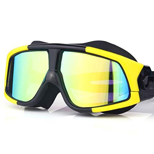 YOGA-YU Gafas De NatacióN HD Anti-Niebla Impermeable Marco Grande Gafas De NatacióN NiñOs Adultos Hombres Y Mujeres