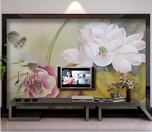 SHANGZHIQIN 3D Photo Wallpaper Embossed Murals Wallpapers Bedside Wall Paper, Floral White HD Print Photos