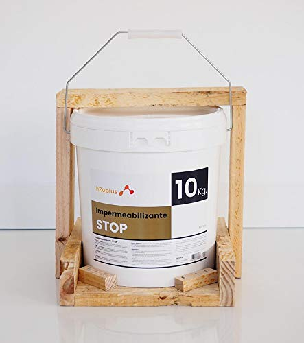 Revestimiento Elástico Impermeabilizante Stop · Pintura para Impermeabilizar parámetros horizontales en Terrazas, Azoteas, Balcones y Tejados · Color Blanco · 10KG (8,3 L)