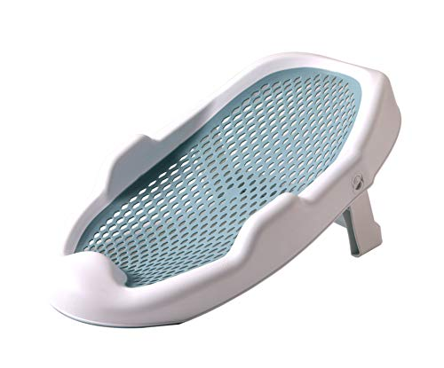 EASICOZI Baby Bath SupportBath Support for Use on The Counter in The Sink or in The Bathtub Blue
