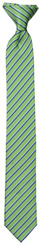 Dockers Big Boys' Striped Clip On Tie, One Size, Green