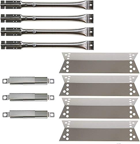 Hisencn Gas Grill Repair KIT Burners, Heat Plate Shield Replacement for Kenmore 122.16134, 122.16134110, Nexgrill 720-0719BL, 720-0773, 720-0783, Tera Gear1010007A Grill Heat Plates