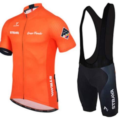 Hplights Conjunto Ropa Equipacion Traje Ciclismo Hombre para Verano, Maillot Ciclismo Hombre+Culotte...